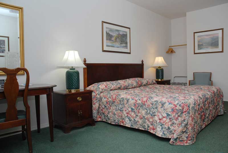ADA And Wheelchair Accessible Guest Room Includes A King Sized Bed.